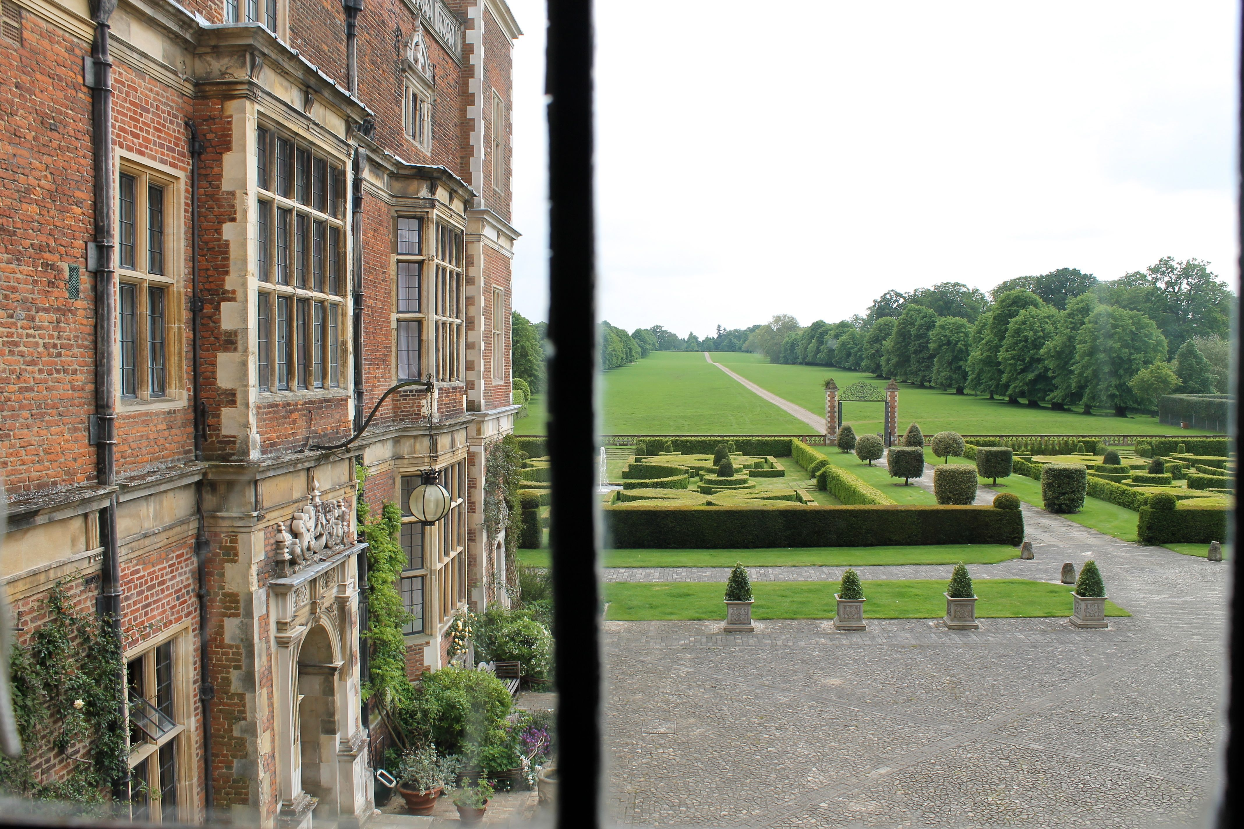 View from Hatfield House, Elizabeth's favorite palace.