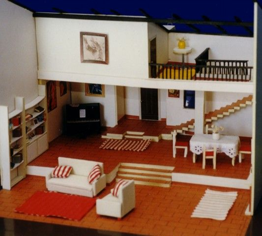 Maqueta de casa tipo loft dise o de interiores maquetas for Casas loft diseno