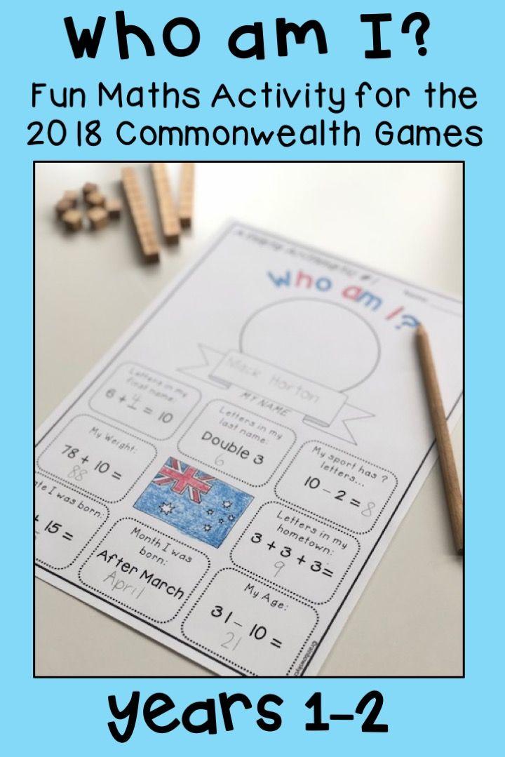 Commonwealth Games Maths Activity - Athlete Who am I Australia ...
