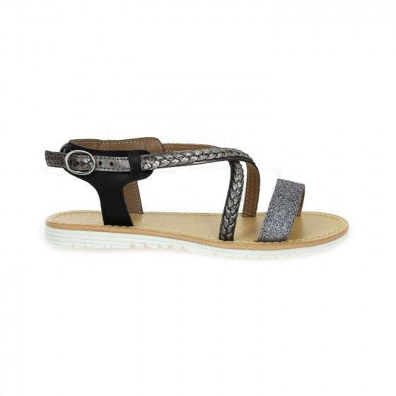 Argent Tropezien Sandales Et Sahel Atelier Chaussures Bessec Noir zMGpLUjqSV
