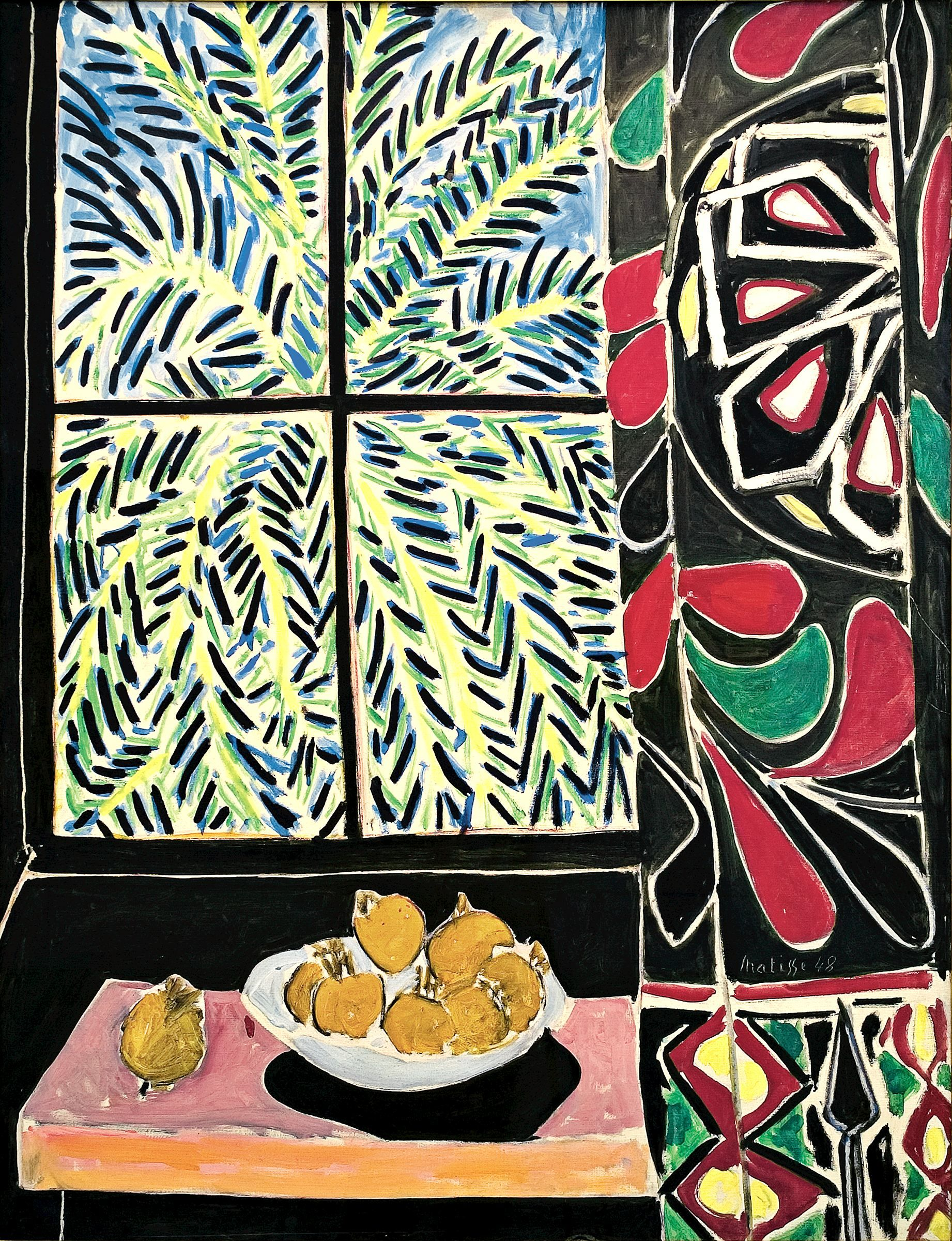 Henri Matisse (1869–1954)  Interior with an Egyptian Curtain, 1948