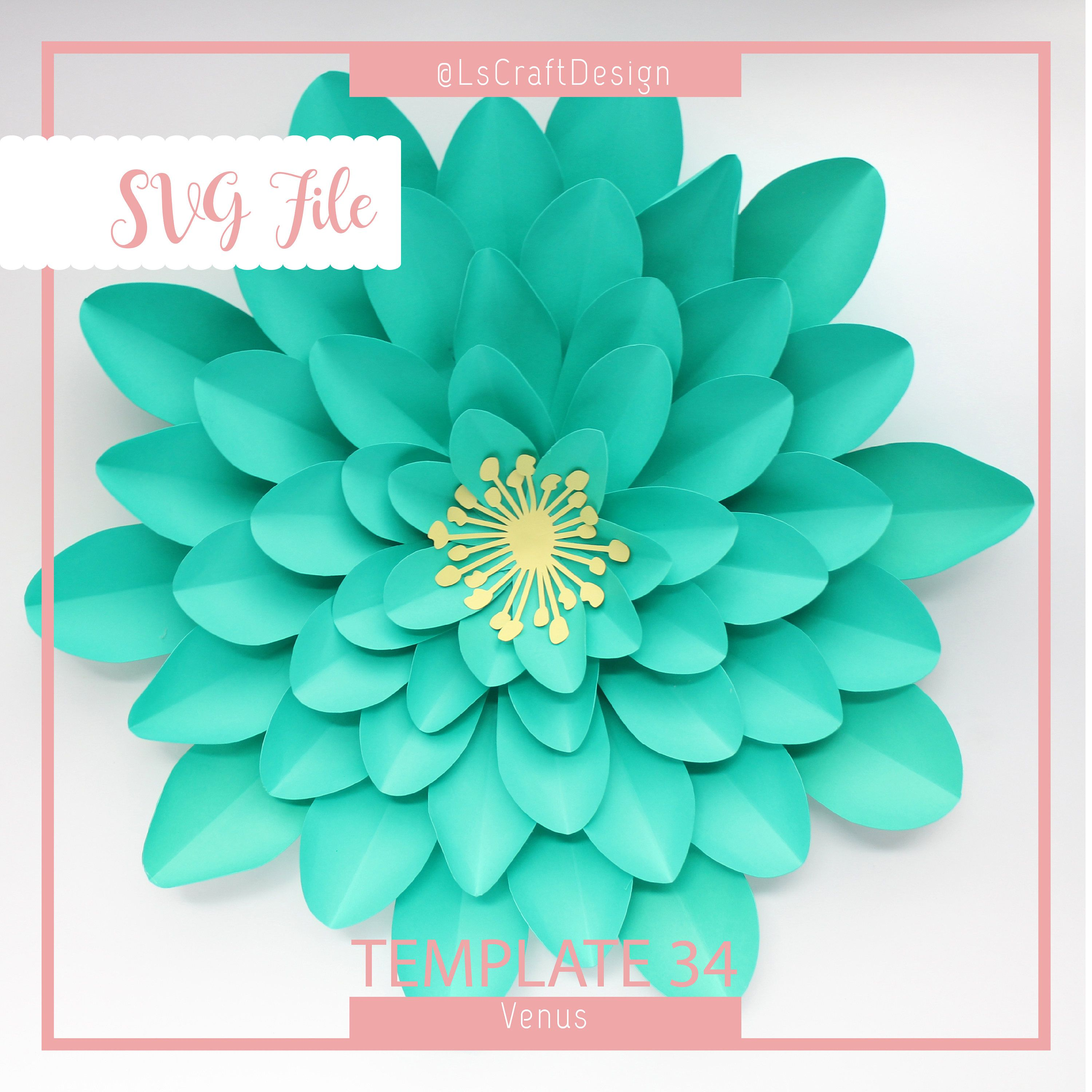 Download SVG Paper Flower Template, Giant Paper Flower Templates ...