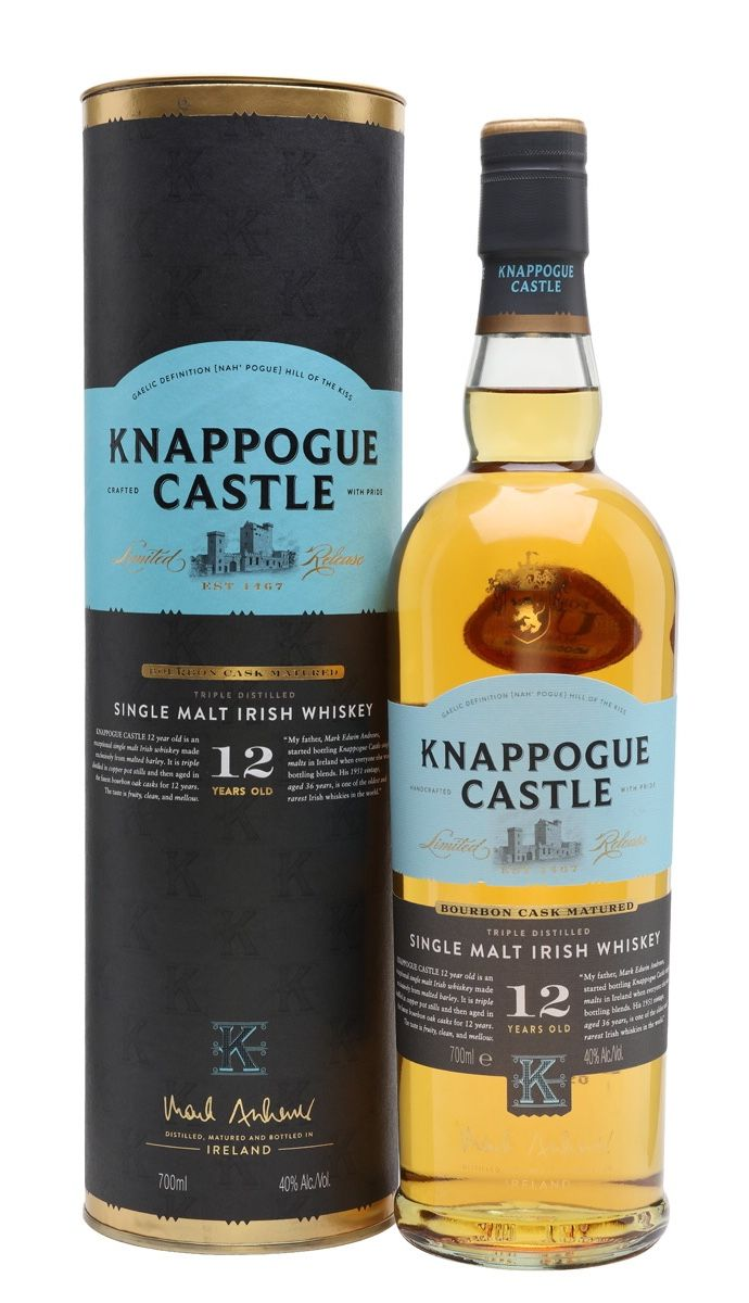 Knappogue Castle 12 Year Old Ireland Irish Whiskey Brands Irish Whiskey Single Malt Irish Whiskey