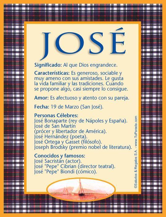 José Significado Del Nombre José Nombres Significados De Los Nombres Nombres Nombre