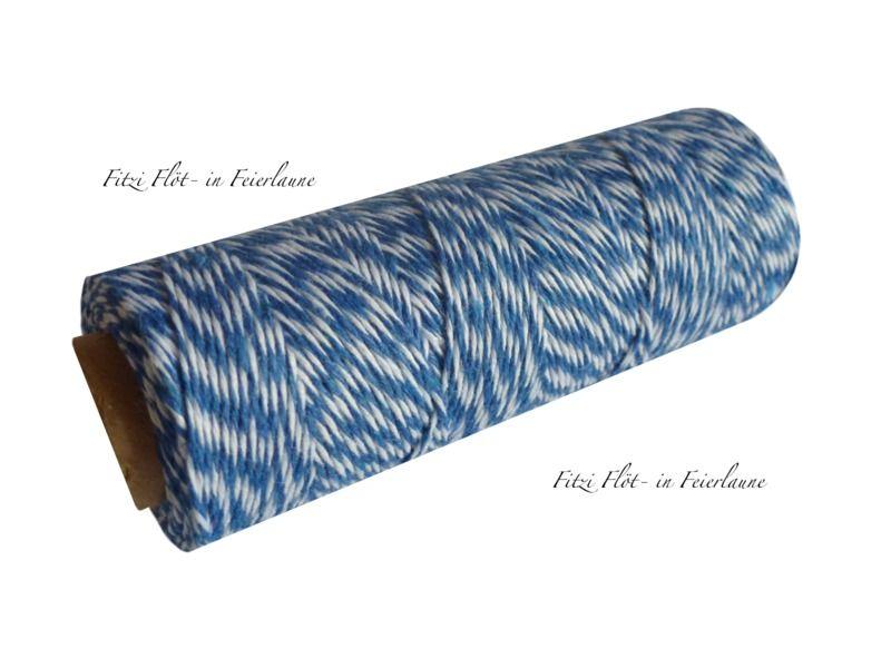 Geschenkband - Bäcker-Garn Bakers Twine dunkelblau - ein Designerstück von Fitzi-Floet bei DaWanda