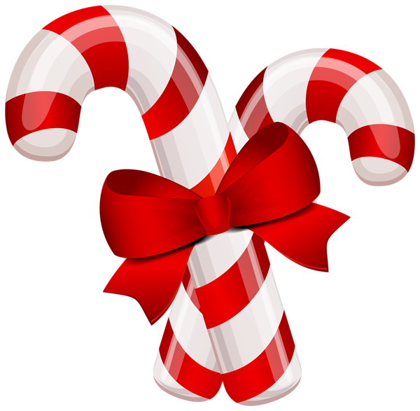 Christmas Classic Candy Canes PNG Clipart Image