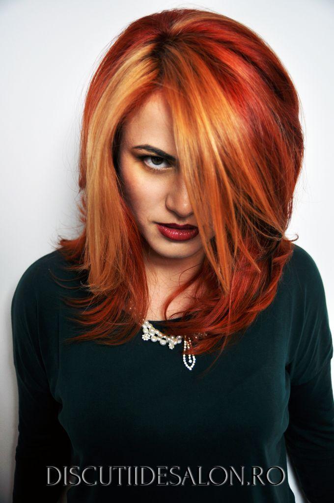Par Vopsit Vopsea Pentru Par Roscat Blond Deschis Suvite Hair