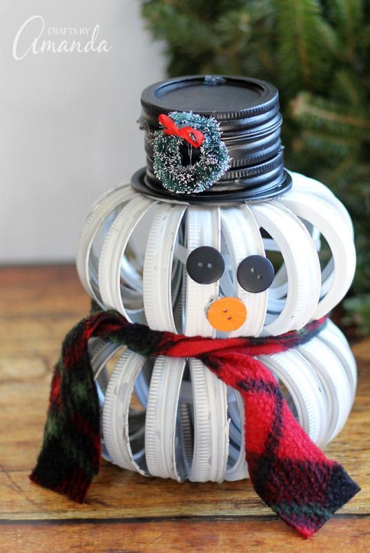 25 Easy Snowman Craft Ideas for When It's Too Cold to Go Outside #masonjarcrafts
