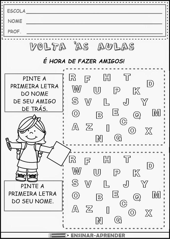 Atividades De Volta As Aulas Com Imagens Atividades Letra E