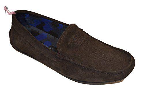 Armani Jeans 935588cc555, Mocassins (Loafers) Homme - Beige - Beige (Caffe), 43Emporio Armani