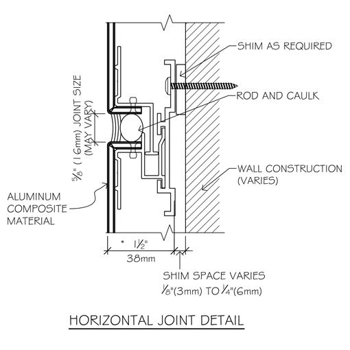 Systems custom metal contracting ltd shop drawing pinterest custom metal and architecture for Exterior wall construction detail