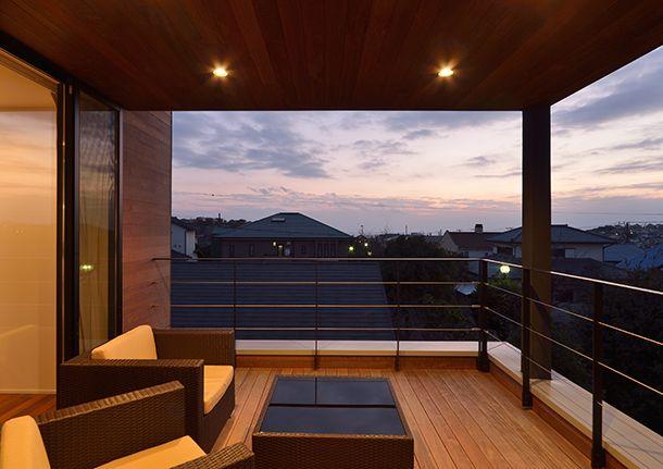 海の見える回廊の家 間取り 神奈川県鎌倉市 注文住宅なら建築