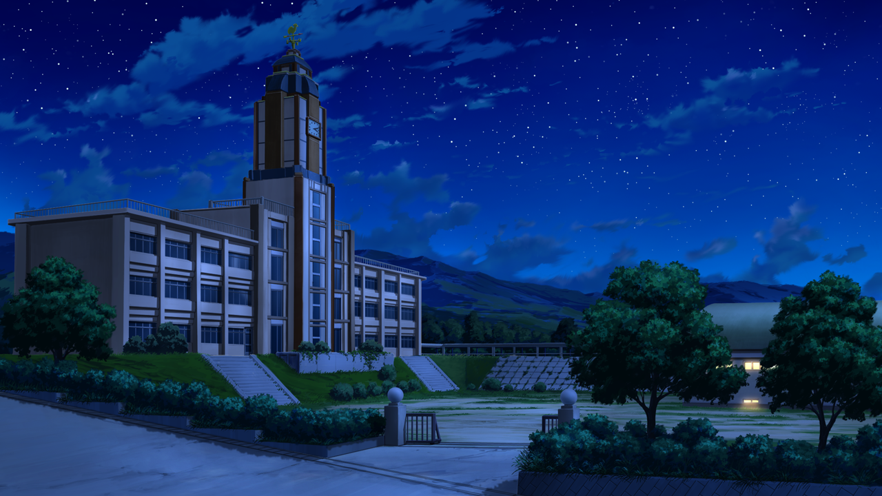 School Anime Scenery Background Wallpaper Cenário anime