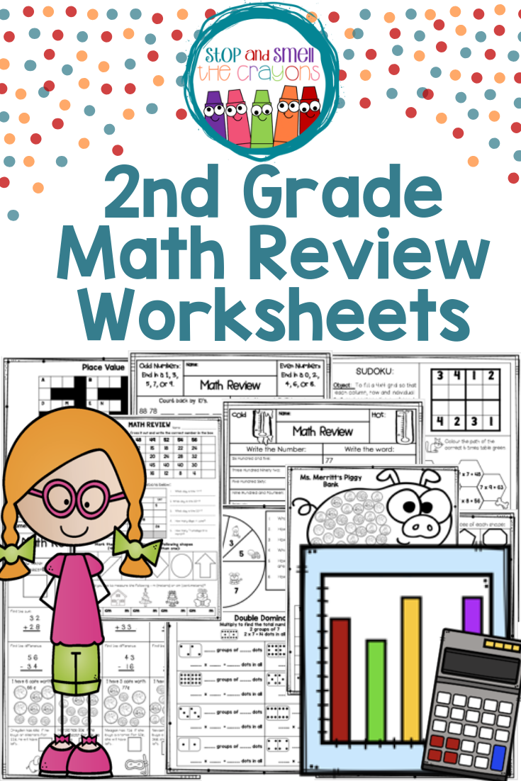 2nd Grade Math Review: Perfect math review for Distance Learning   2nd grade  math [ 1102 x 735 Pixel ]