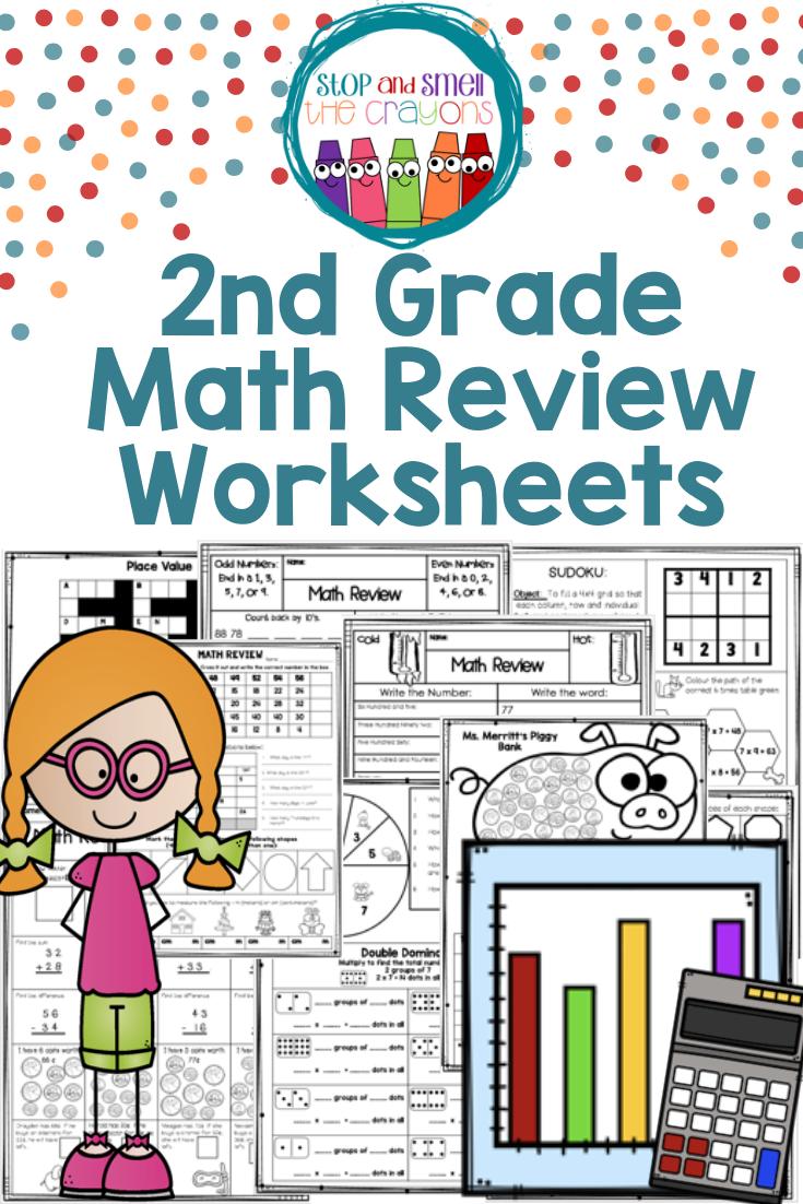 medium resolution of 2nd Grade Math Review: Perfect math review for Distance Learning   2nd grade  math
