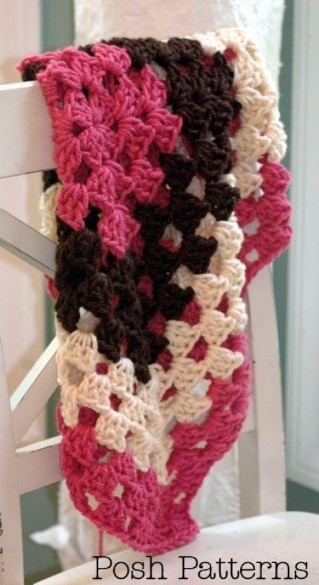 Crochet Pattern Crochet Granny Square Baby Blanket Pattern Baby