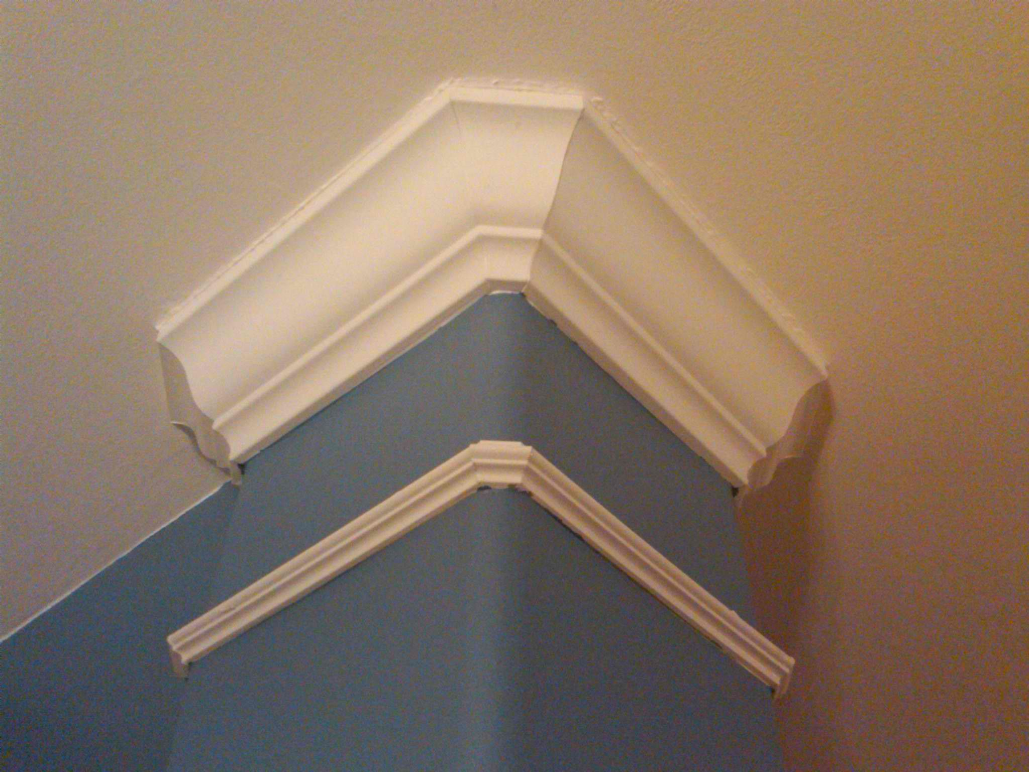 How Can I Install Crown Cornice Molding And Trim On Rounded Outside Corners Home Improvement Stack Exchan In 2020 Moldings And Trim Crown Molding Foam Crown Molding