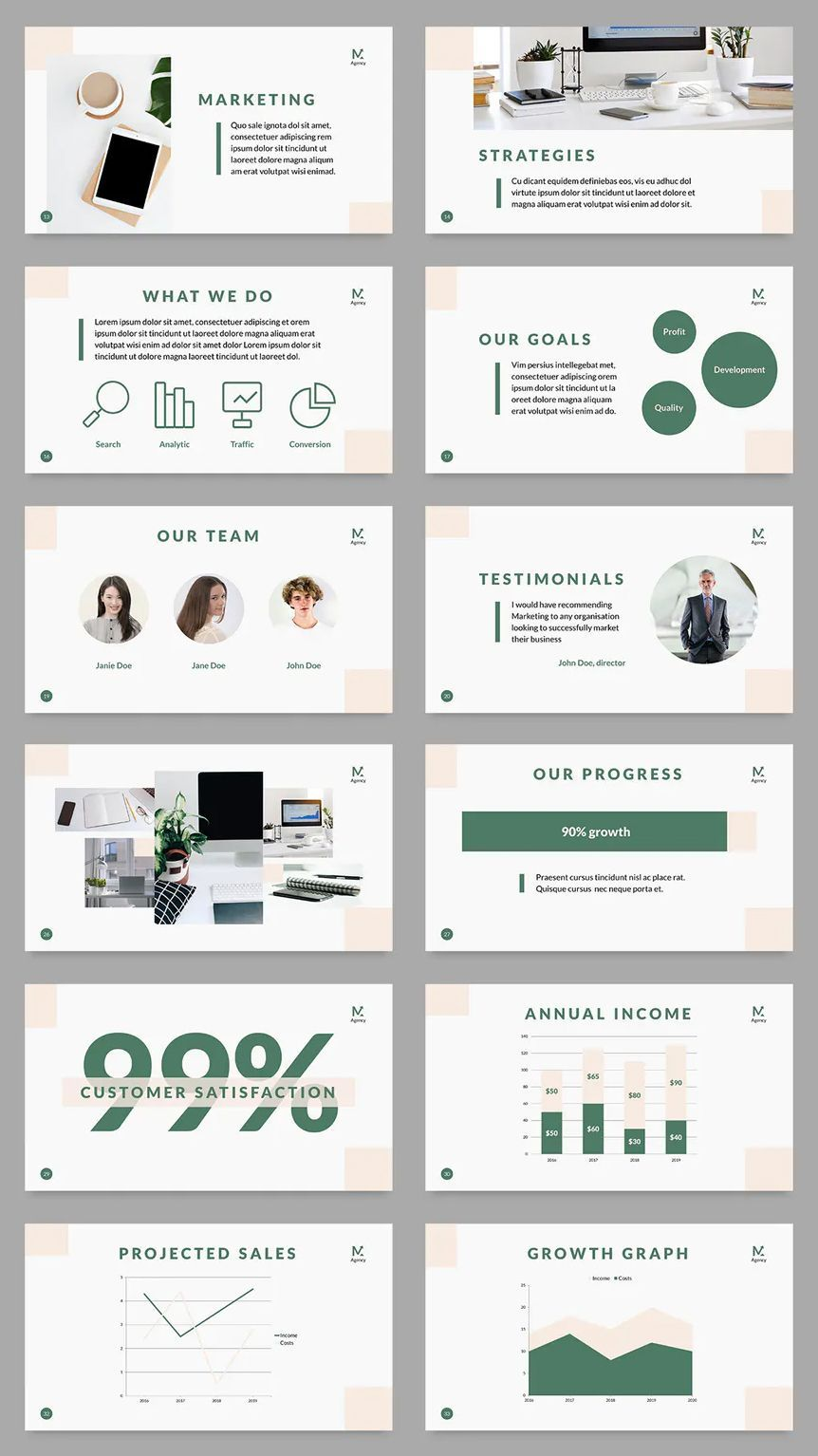 Digital Marketing Company PowerPoint Presentation Template  50 Unique Slidescompany