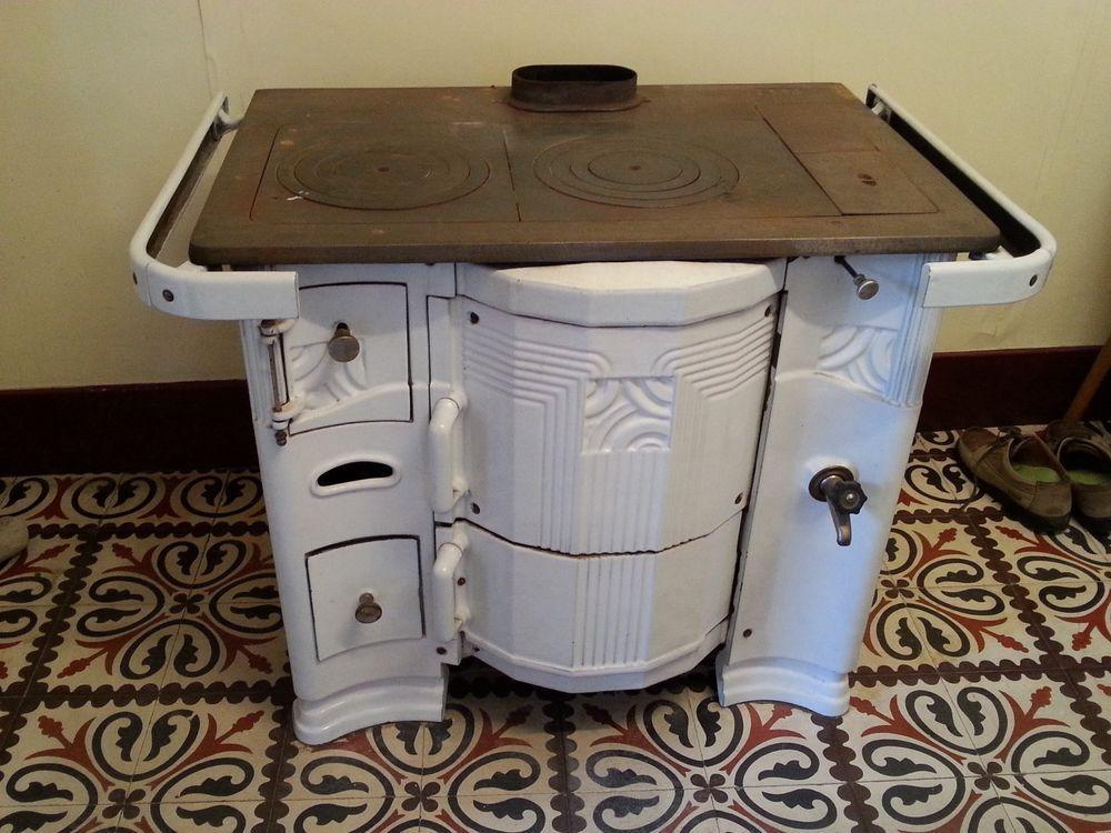 Cuisinière ancienne blanche émaillée | Idées pour la maison ...