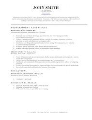Resume Template BW Classic  Job Template    Free Resume