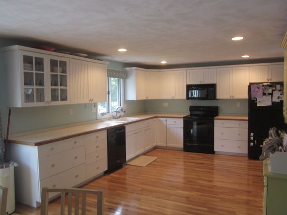 painted white kitchen cabinets For the Home Pinterest
