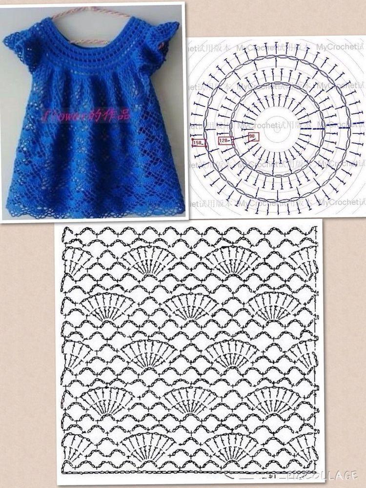 Узоры Для Вязанного Платья Для Девочки