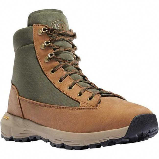 94cc275854 Danner Men's Explorer 650 6 Hiking Boot Brown/Green Full Grain  Leather/Nylon (