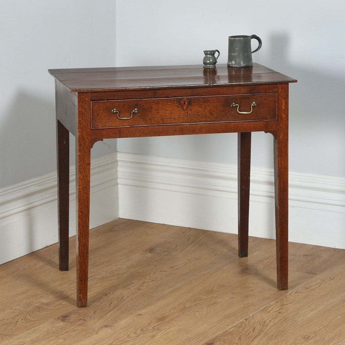 Antique English George III Country Oak Side / Hall Table (Circa 1800)