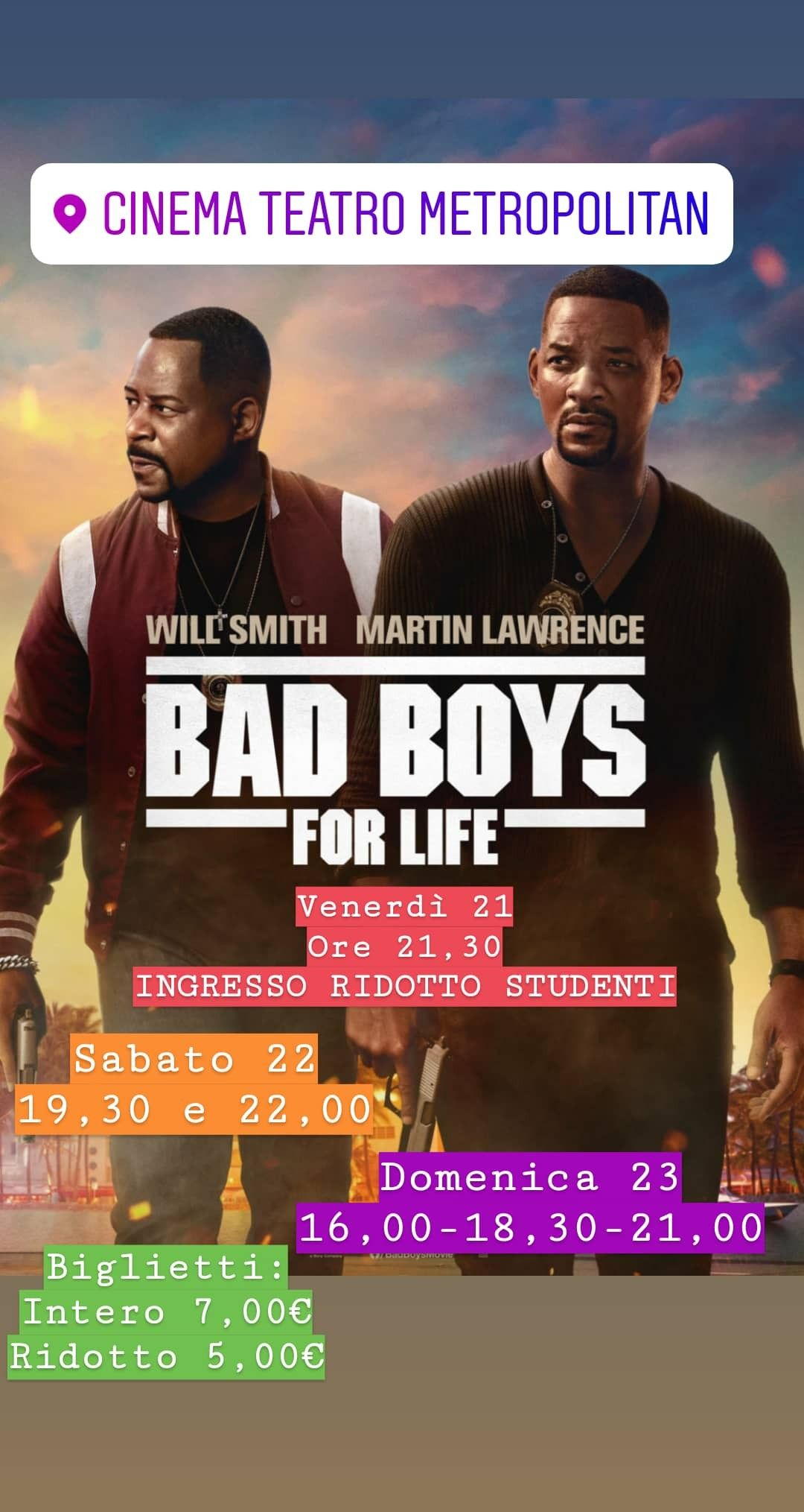 Bad Boys For Life Cinema Teatro Studente