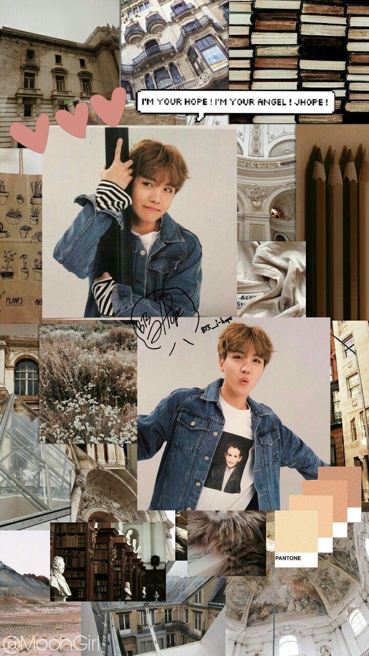 jhope hoseok bts brown wallpaper aesthetic