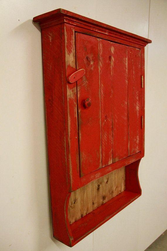 Bathroom Primitive Wall Cabinet