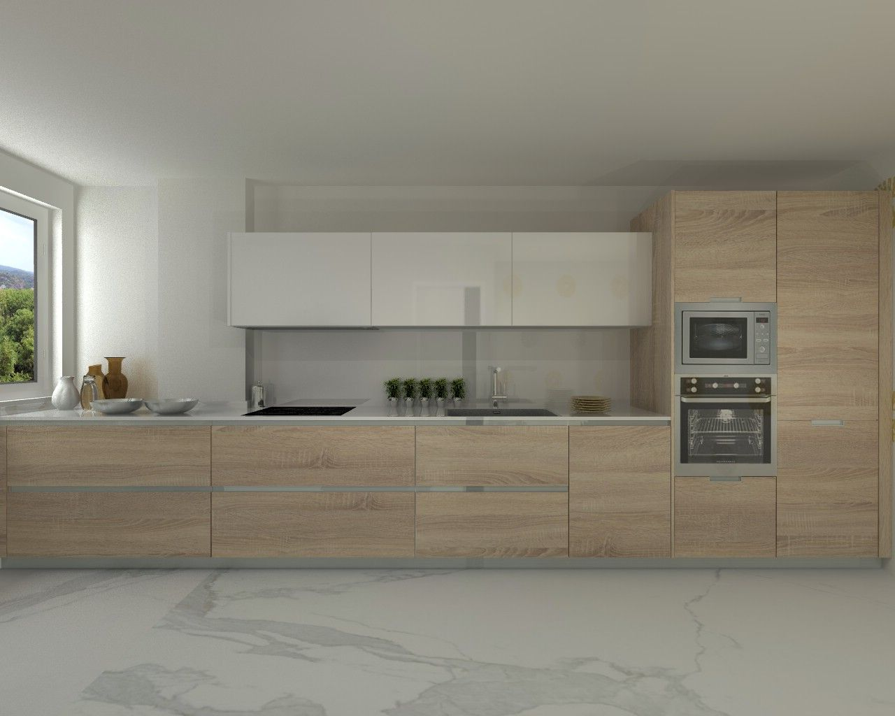 Modelo line e encimera silestone cocinas pinterest for Modelos de muebles de cocina modernos
