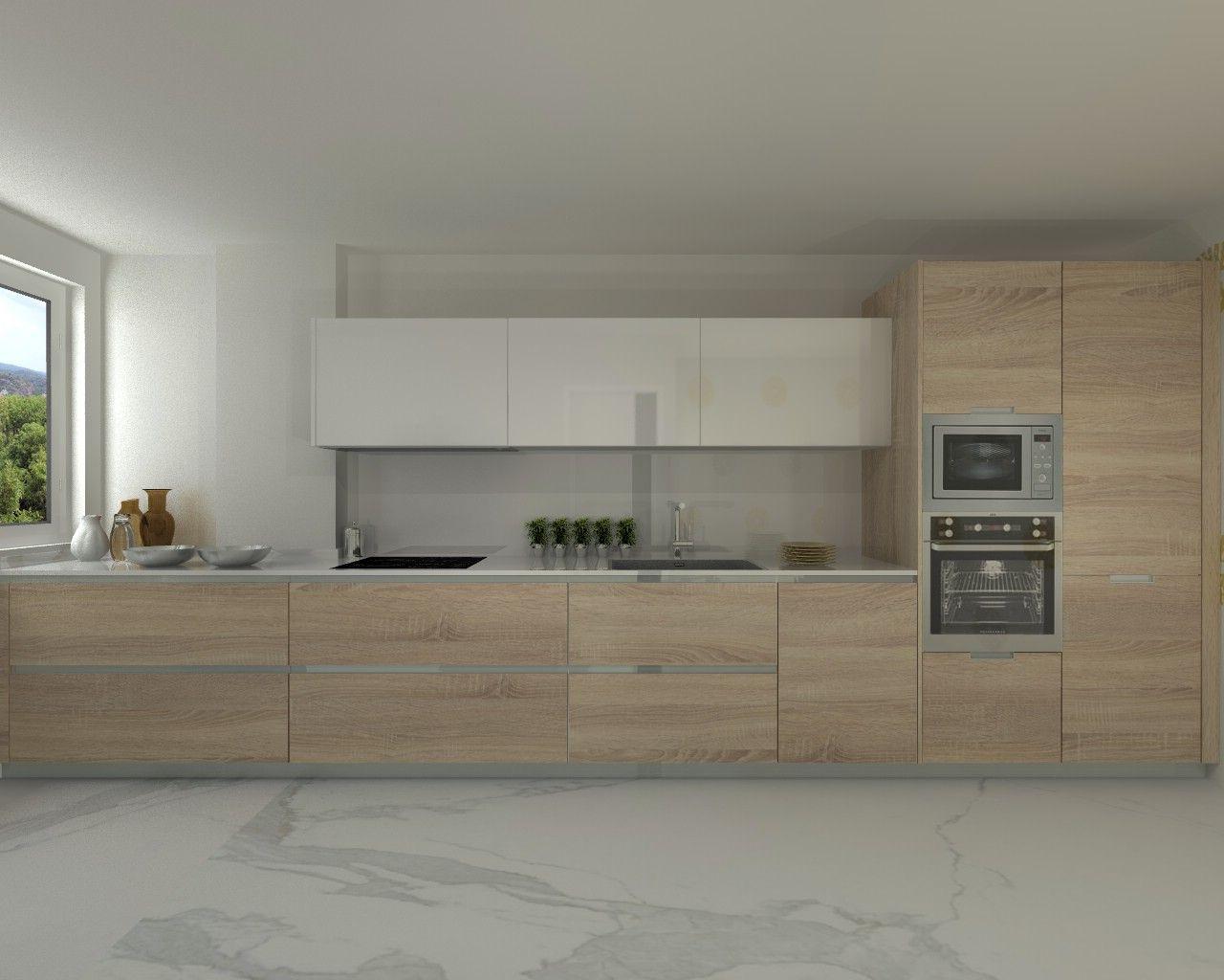 Modelo line e encimera silestone cocinas pinterest for Cocinas lineales de cuatro metros