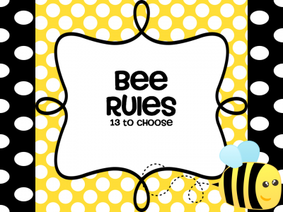In This Packet You Will Find Posters For The Popular Classroom Rules Using BEE Theme Bee Kind Responsible Respectful Prepared Ready To