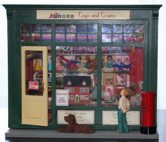 He Toy Shop Is Made In A 12 Inch X 10 Inch Room Box. The