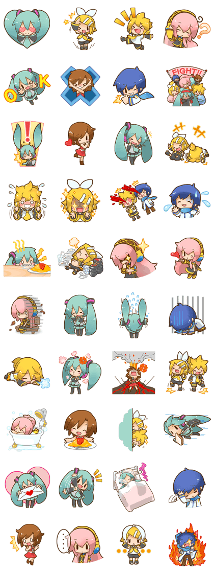 Hatsune Miku: All Together Line Sticker - Rumors City