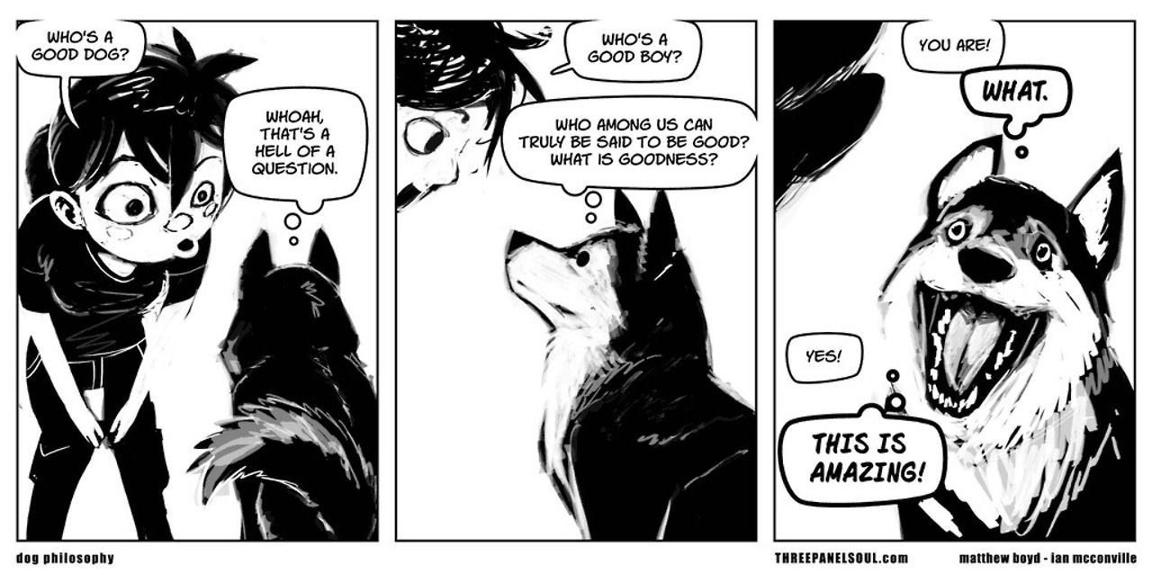 all i need in life is three panel soul Dog comics, Dog