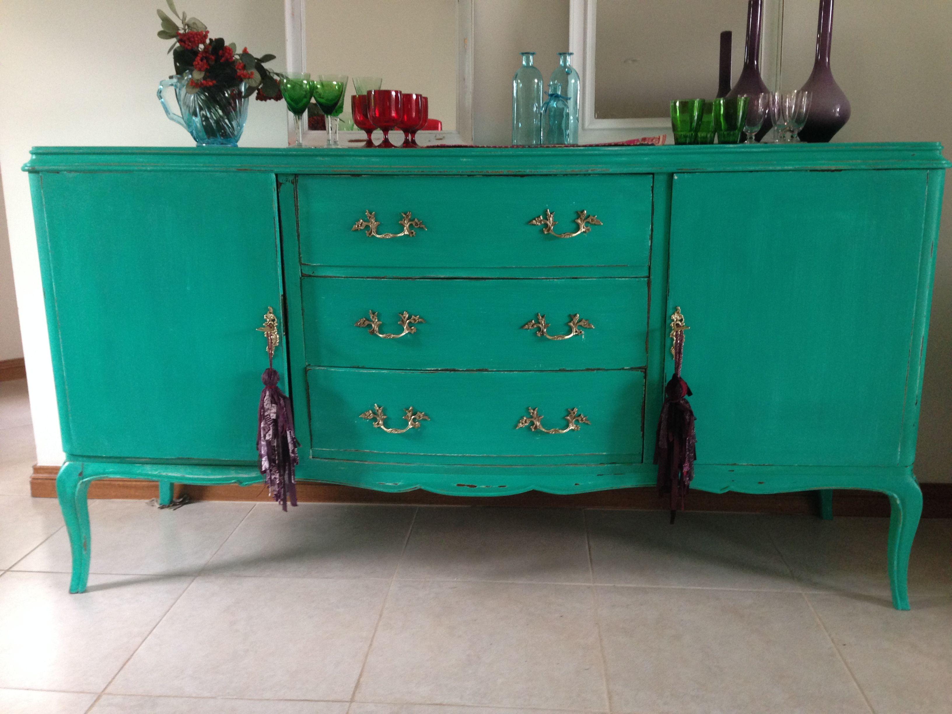 Muebles Antiguos Pintados De Colores Free Resultado De Imagen  # Muebles Vajilleros Antiguos