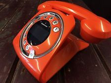 SAGEMCOM SIXTY: Retro Style Telephone w/ Answering Machine - Orange
