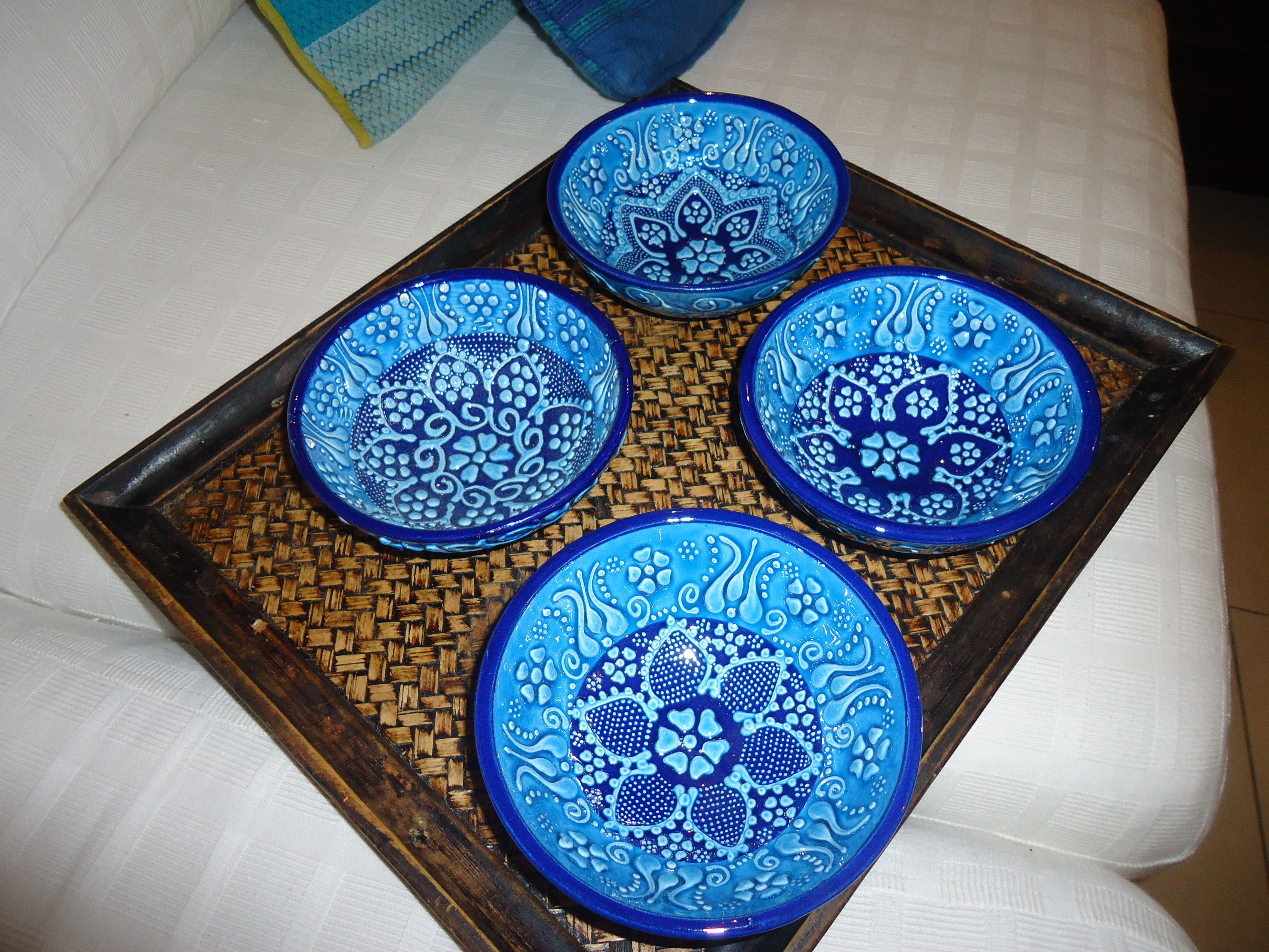 Blue turkish bowls china patterns decorative plates decor
