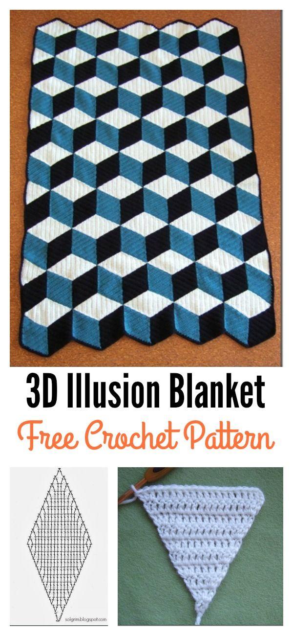 Free 3d Illusion Blanket Crochet Patterns Crochet