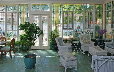 Stained glass sunroom by Phoenix Studio