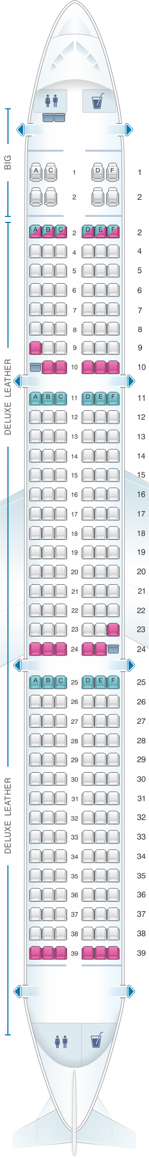 Seat Map Spirit Airlines Airbus A321 228pax Vietnam Airlines Allegiant Air Srilankan Airlines