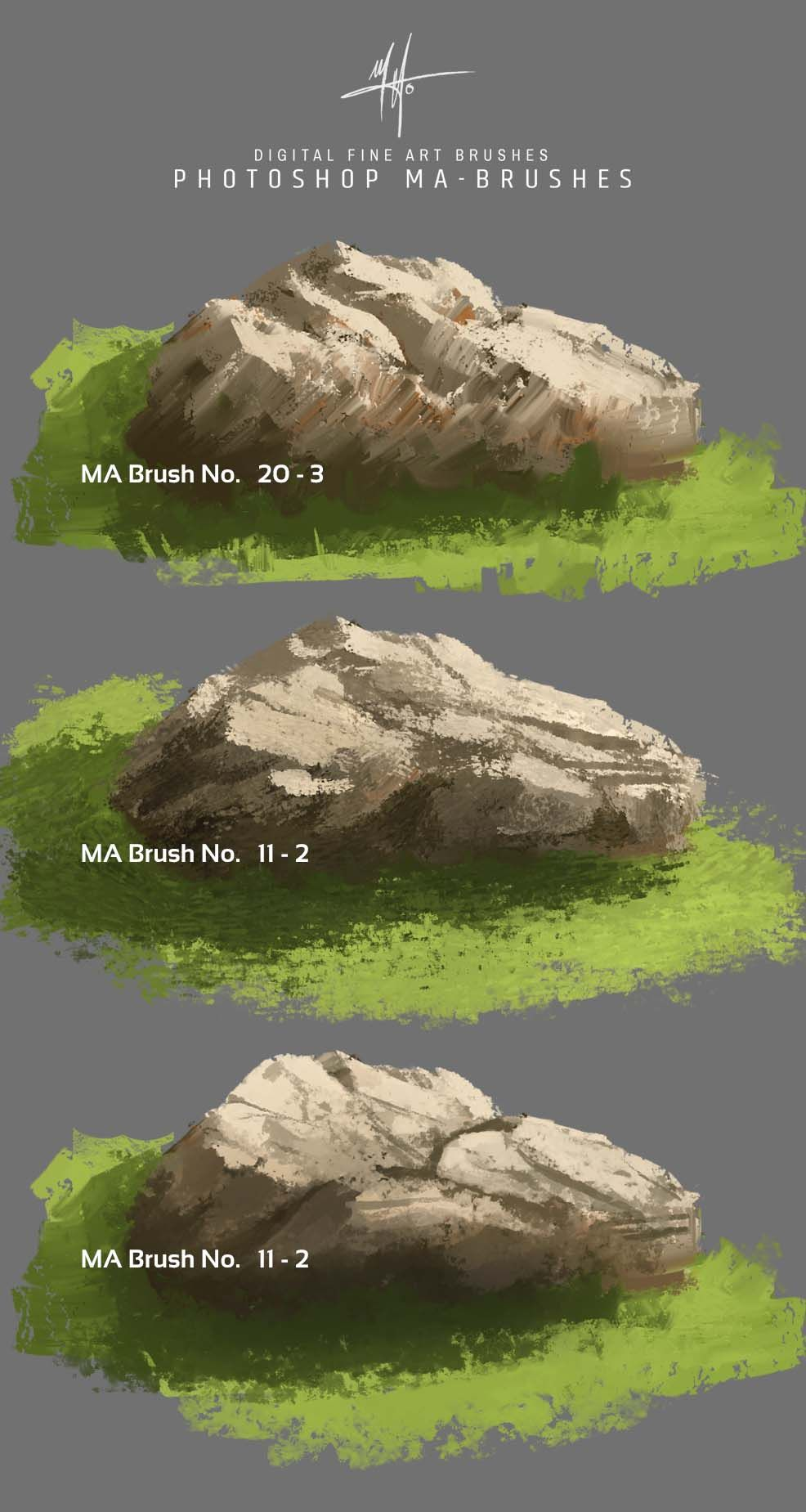 Concept Art Brushes - Foliage, Grass, Trees, Leaves Brush Pack