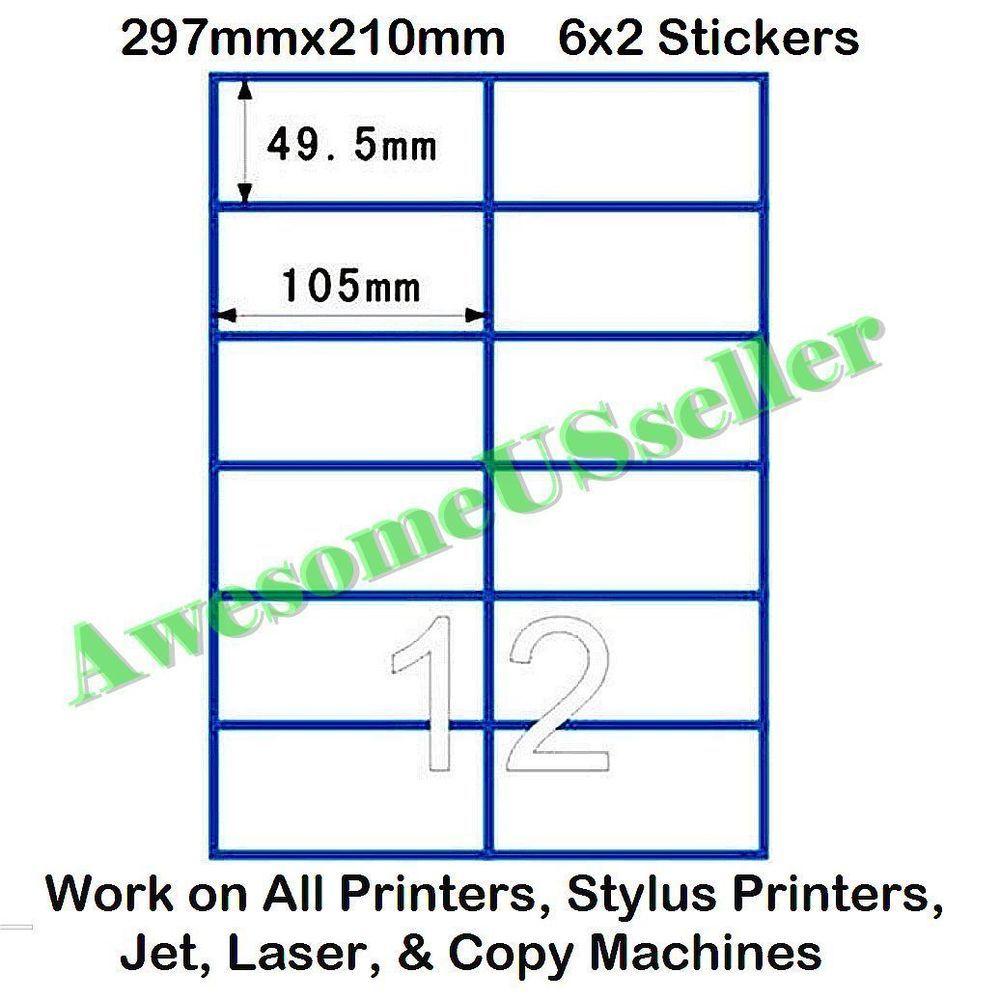 X  Stickers Per A Sheet  White PreCut Matt Papers