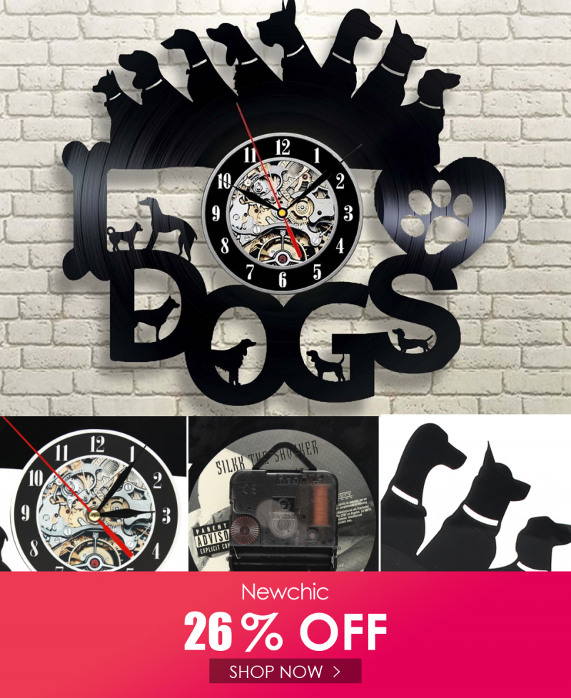 I Found This Amazing Dog Collar Exclusive Wall Clock Vinyl Record Timer 12 Inch Living Room Bedroom Fashion Wall Clock With Au In 2020 Clock Wall Clock Bedroom Styles