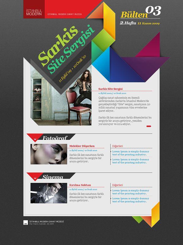 Newsletter Layout Design By Serdar Meydanci Http Www Webdesignserved Com Gallery Astanbul Modern Web Site 822174 Web Design Layout Design Newsletter Layout