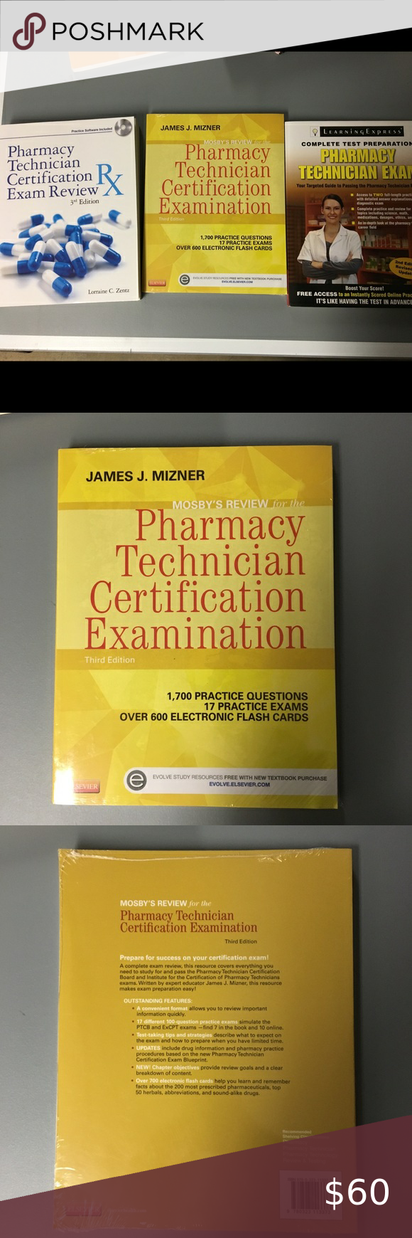 pharmacy technician certification yellow practice exam poshmark valued