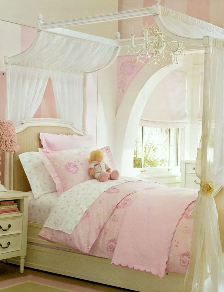 princess themed girls bedroom featuring unique canopy bed designs rh pinterest com