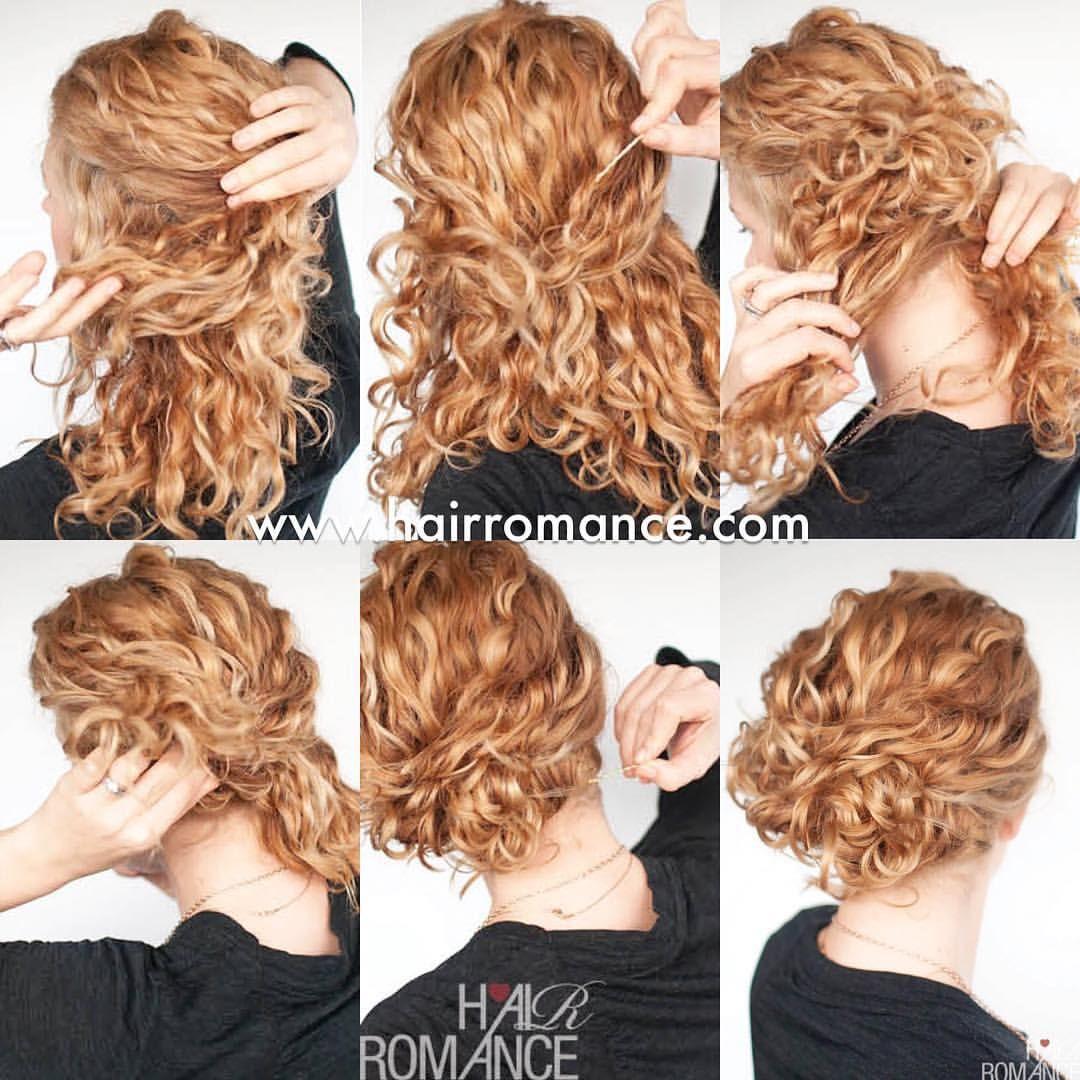 Instagram Photo By Christina Hair Romance Aug 23 2015 At 3 06am Utc Easy Curly Updo Easy Hair Updos Hair Romance